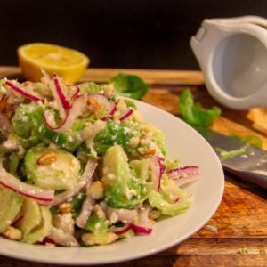 Brussels Sprout Almond Salad