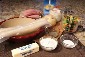 Ham pot pie ingredients