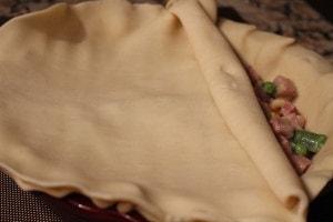 Ham pot pie top crust