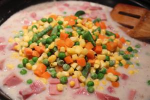 ham pot pie add vegetables