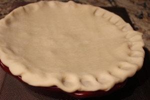 ham pot pie crimp edges