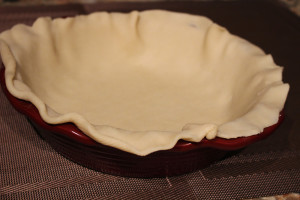 ham pot pie crust in pie pan