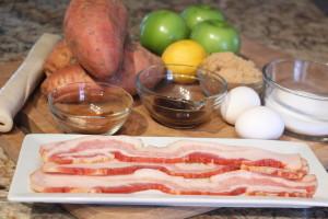 Sweet Potato Apple Pie ingredients