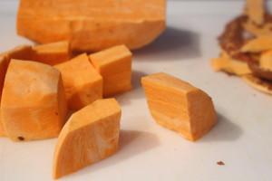 Sweet Potato Chunks for pie