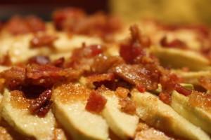 Sweet Potato Pie closeup bacon