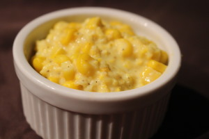Easy Homemade Creamed Corn- Chances are you have most of these ingredients already! This Creamed Corn Recipe is super easy to make and tastes much better than the canned stuff. -thesaltedpepper.com