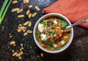 Thai Curry Chili in a bowl