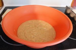 Banana Bread Cream Cheese Swirl Cake