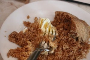 Banana Bread Cream Cheeese Swirl Cake