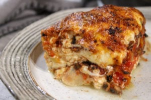 Vegetarian Eggplant Lasagna with Homemade Ricotta