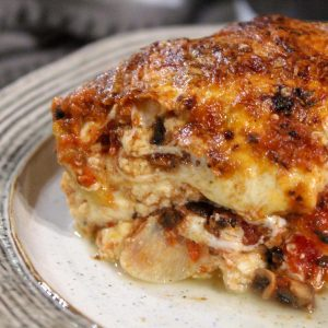 Vegetarian Eggplant Lasagna with Homemade Ricotta