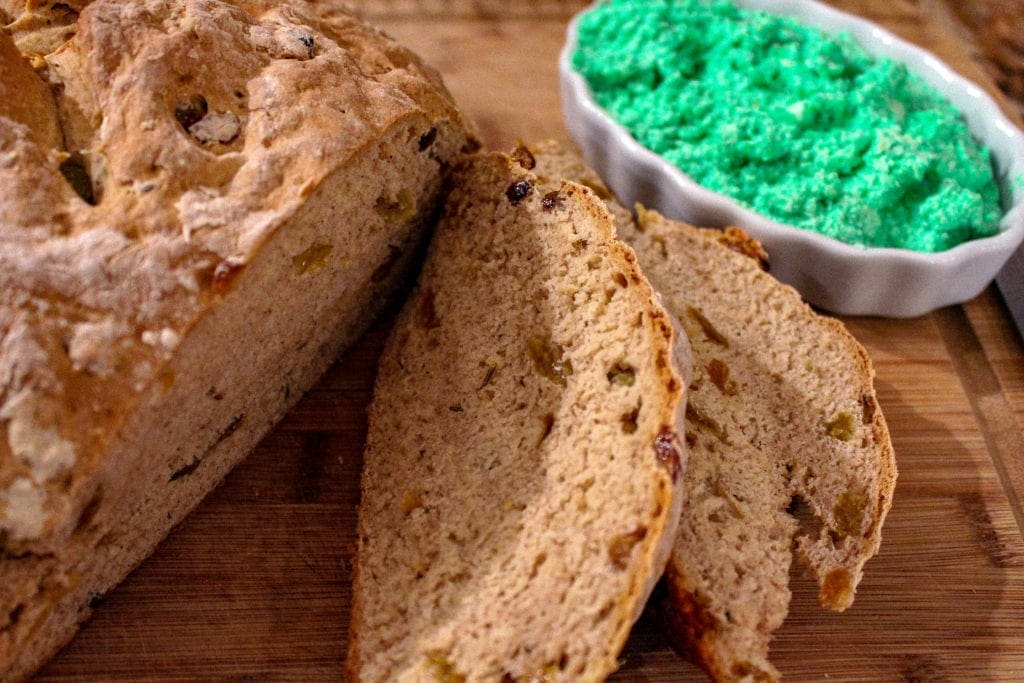 Mom's Irish Soda Bread with Tangy Green Butter