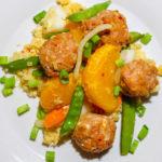 Asian Stir Fry with Turkey Meatballs