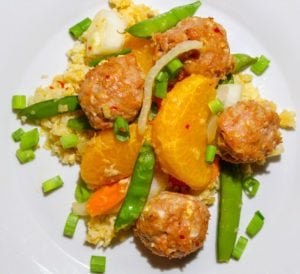 Asian Stir Fry with Turkey Meatballs