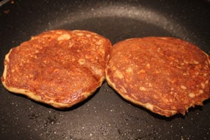 Healthy Carrot Cake Pancakes cooking