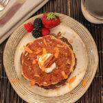 Healthy Carrot Cake Pancakes