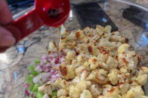 cauliflower potato salad bacon grease