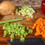 Cajun Jambalaya chopped celery and carrots
