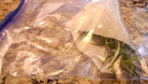 Rosemary Wrapped in Bag