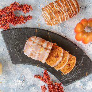Pumpkin Bread with Orange Glaze