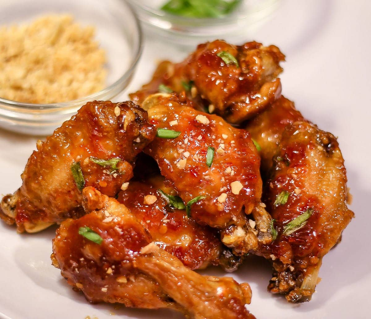 Ninja Foodi Recipe ~ Asian Sticky Wings ~ The Salted Pepper