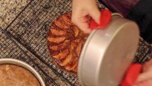 Ninja-Foodi-Recipe-Apple-Cake-removing cakes
