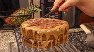Ninja Foodi Recipe apple cake decorating top of cake