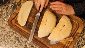 Homemade bread in the Ninja foodi cut