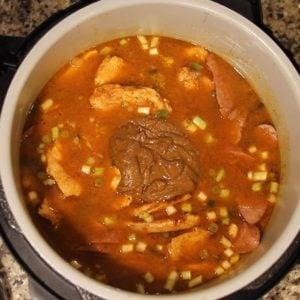 Cajun Jambalaya in the Ninja Foodi roux on top