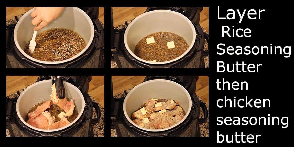 Ninja Foodi Chicken & Wild Rice steps