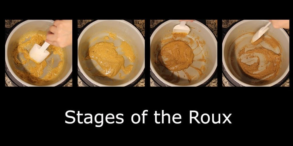 Cajun Jambalaya stages of roux