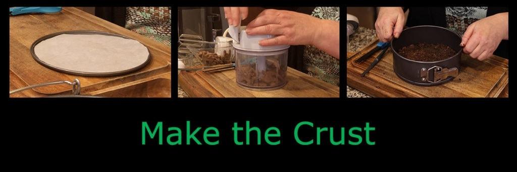 Mint Cheesecake making the crust