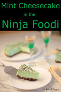 Mint cheesecake in the Ninja Foodi