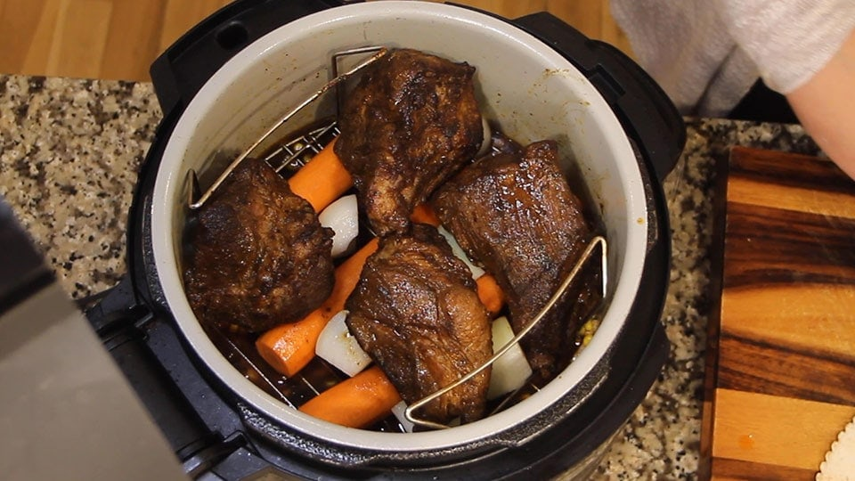 Mexican Pot Roast on the rack in the Ninja Foodi