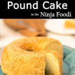 Pound Cake on a blue plate