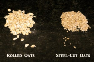 comparison of steel-cut oats and rolled oats