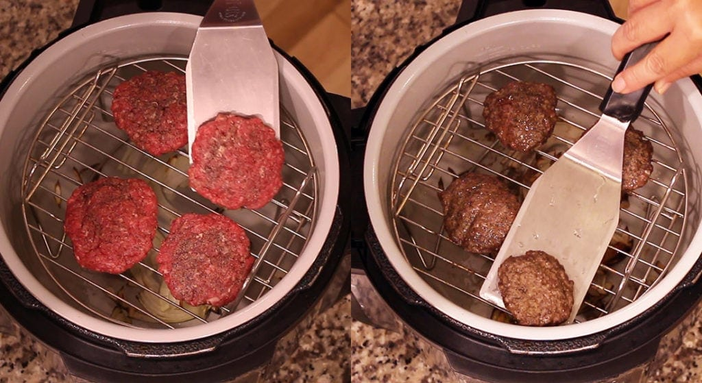 burgers raw and cooked graphic