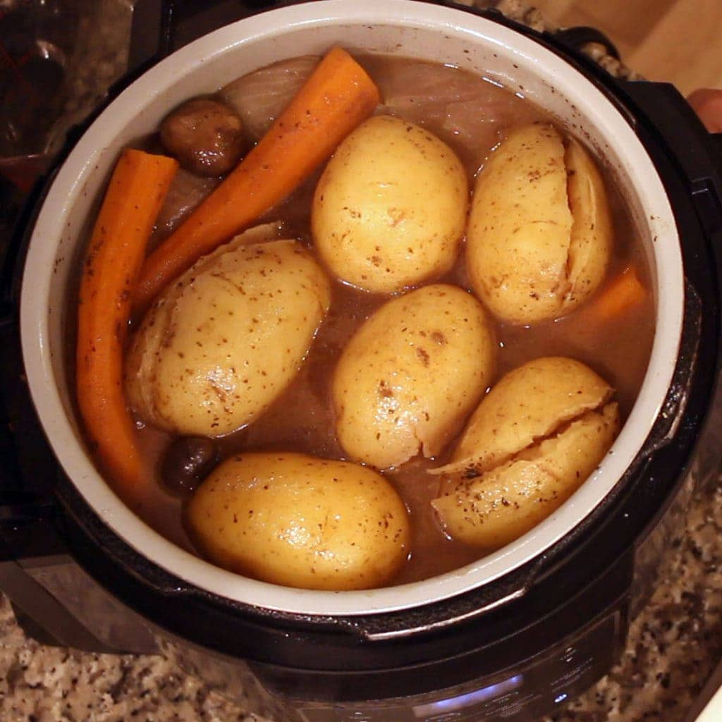 quick and easy pot roast in the Ninja Foodi cooked