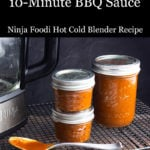 10-minute bbq sauce in jars