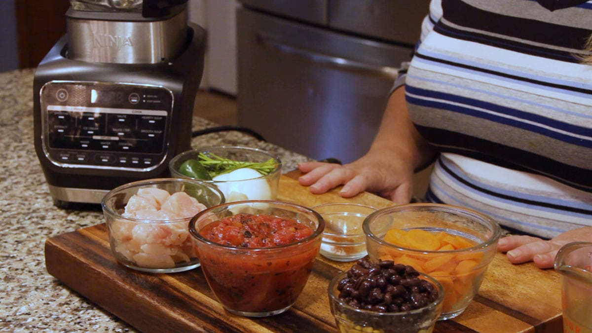 ingredients for homemade chicken tortilla soup