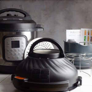 picture of instant pot duo crisp with attachments