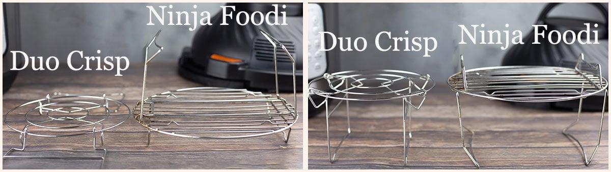 Ninja Foodi rack beside the duo crisp rack
