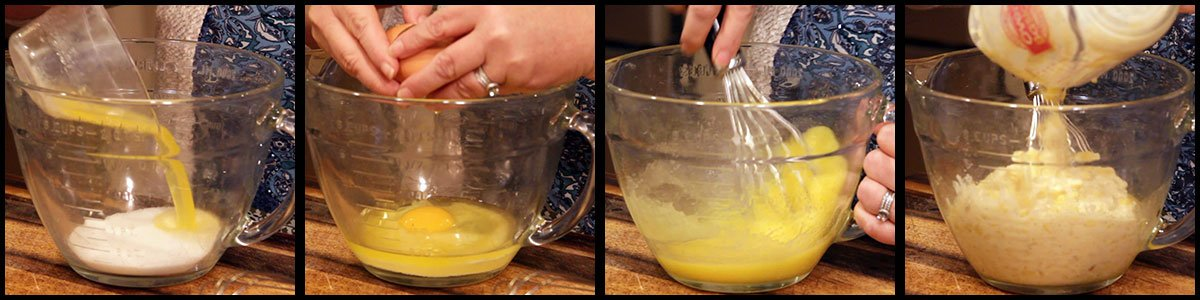 steps for adding wet ingredients