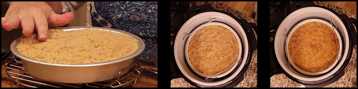 graphic showing steps for brown sugar topping