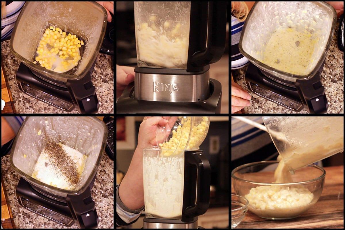 homemade cream style corn steps