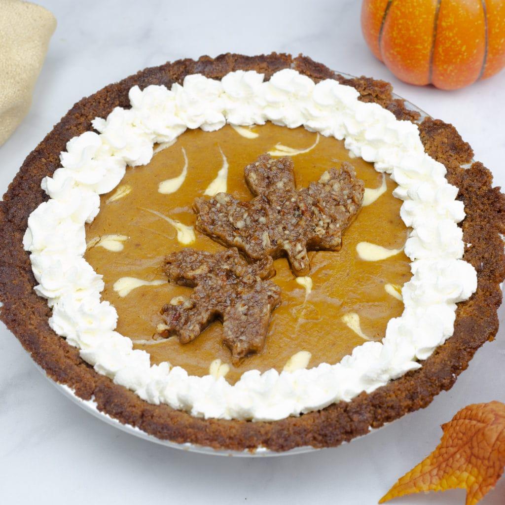 whole layered pumpkin cheesecake pie