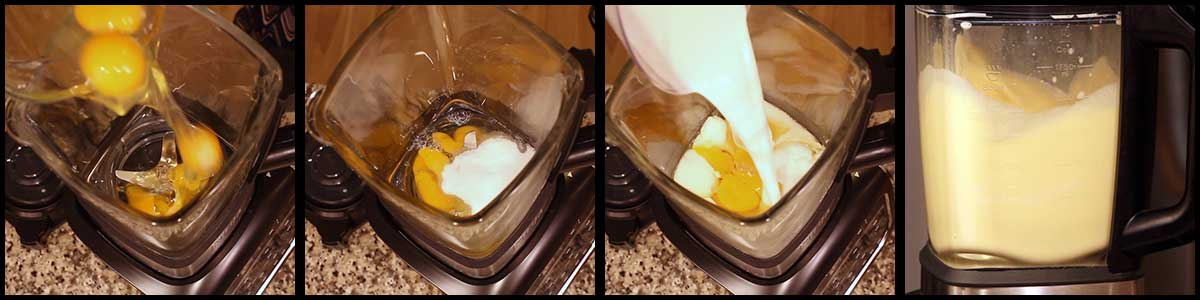 steps for making blender eggnog