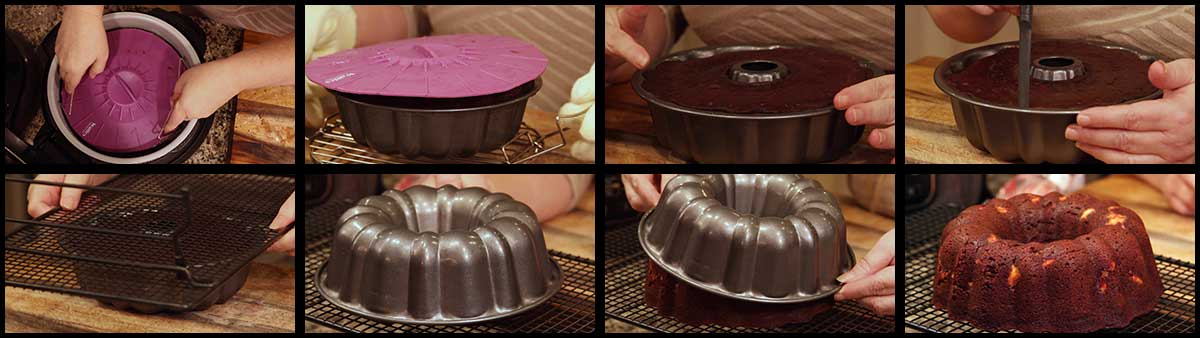 steps for removing the cake from the pan