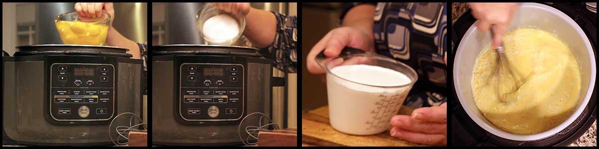 steps for making homemade eggnog