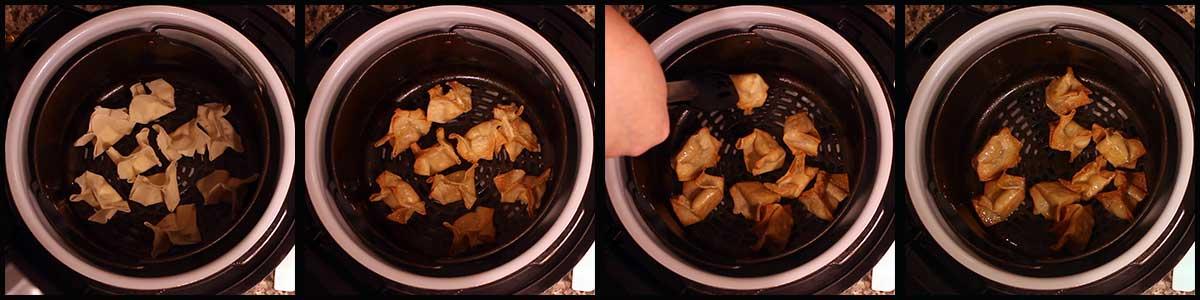 Air frying Crab Rangoon
